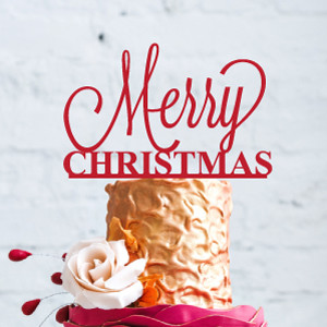 Christmas Cake Toppers.Merry Christmas Cake Topper