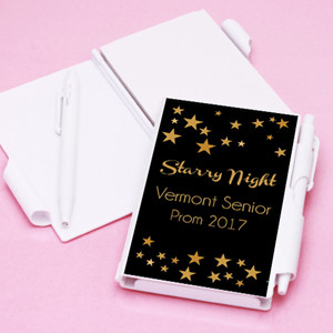 Starry Night Personalized Notebook Favors