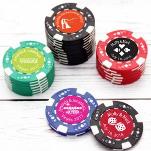 Poker Chip Favors 50 Pcs Favors Flowers