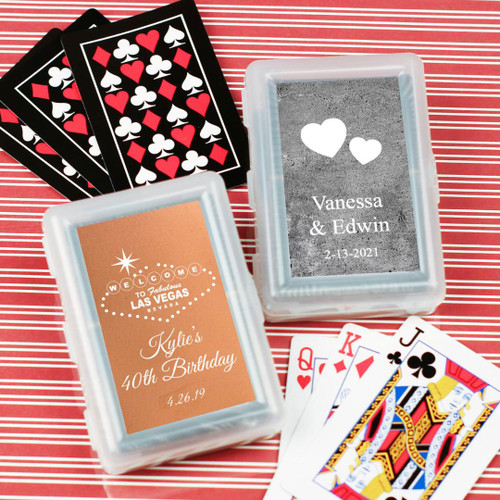 Classy Wreath Personalized Playing Cards As Low 138 Choose Options