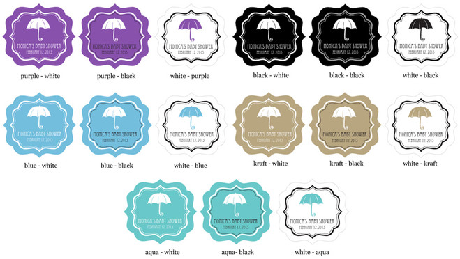 f783de711c8 ... Personalized MOD Baby Shower Silhouette Clear Candy Bags - Set of 24 ...
