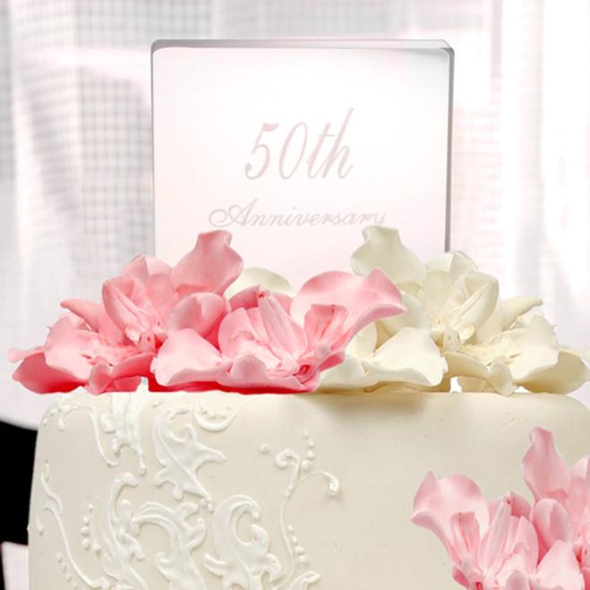 50th Wedding Anniversary Acrylic Cake Topper