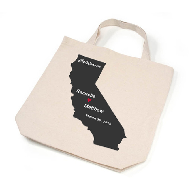 California Personalized Tote Bags