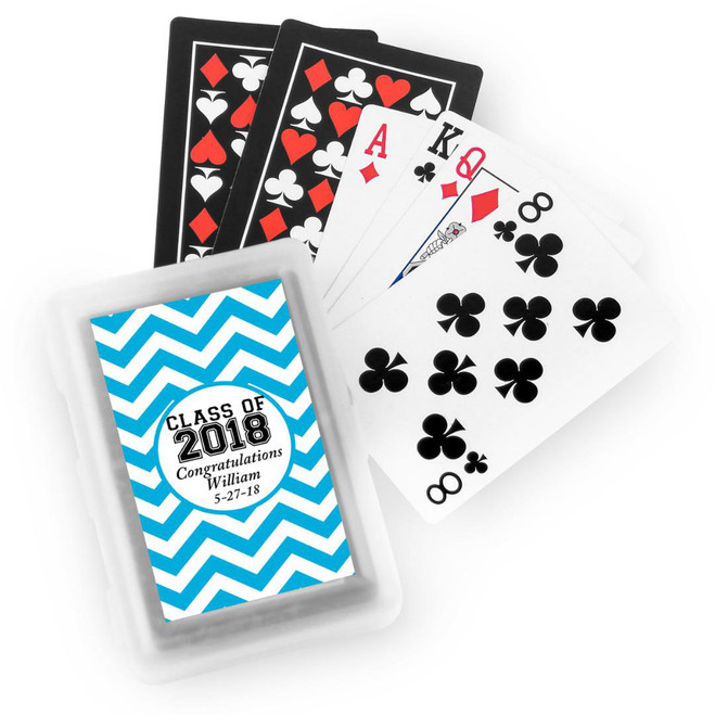 Favors And Flowers Class Of 2018 Personalized Playing Cards