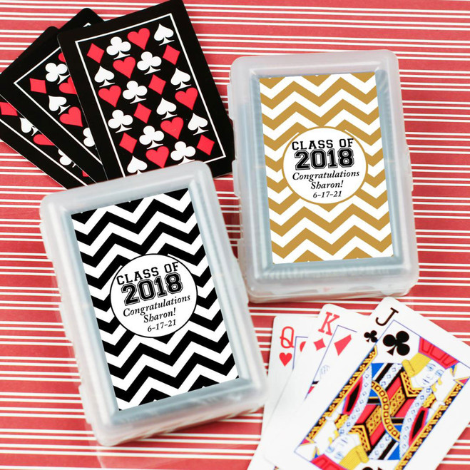 Class Of 2018 Personalized Playing Cards