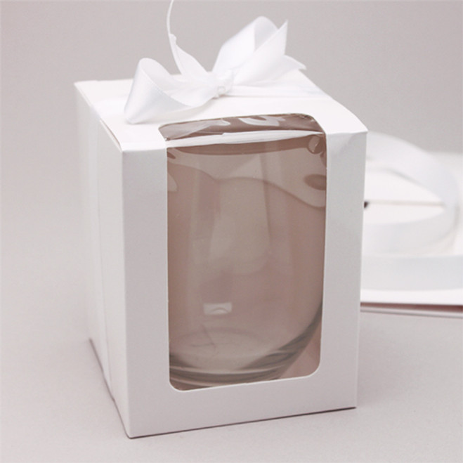White Stemless Wine Glass Gift Box 12 Pcs