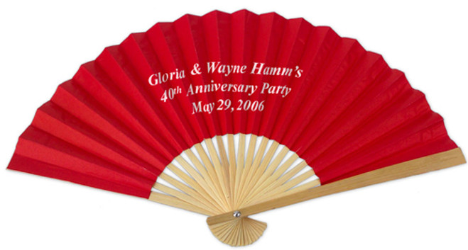 Personalized Front Print Paper Hand Fans