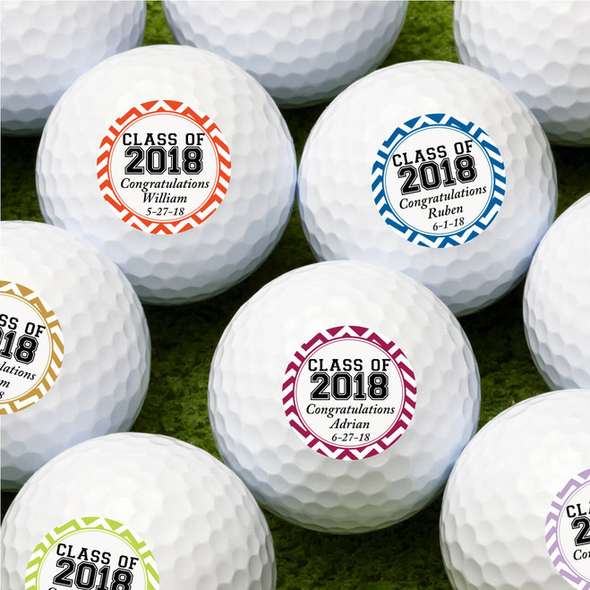 Class Of Graduation Personalized Golf Balls Favors Flowers