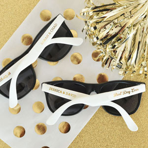e28ab256ee Personalized Wedding Sunglasses - Favors   Flowers