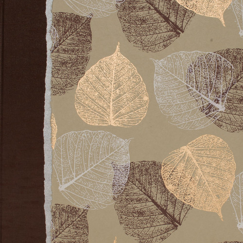 Guest Book in brown and gold leaves