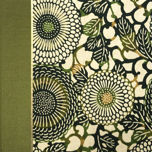Journal Notebook in Green Sunflower
