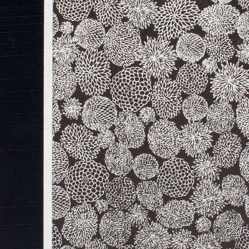 Journal or Notebook in Silver Zinnias