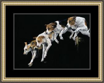 Large paper framed image