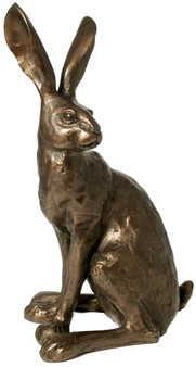 Cold cast bronze hare by Paul Jenkins