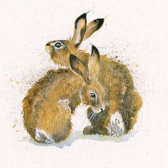 Hare artwork by Kay Johns