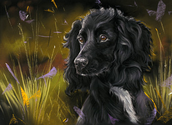 Cocker artwork by Kay Johns