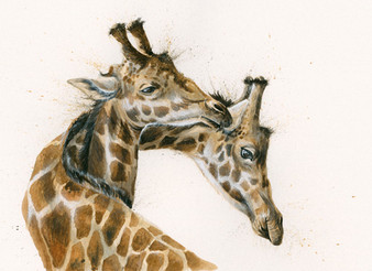 Giraffe artwork by Johns
