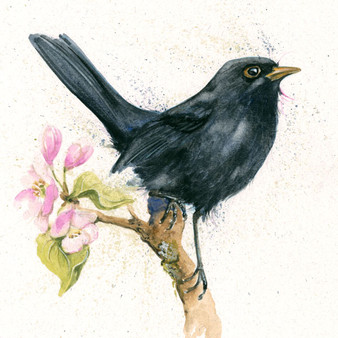 Black Bird artwork painting by Kay Johns