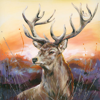 Stag Artwork by Kay Johns