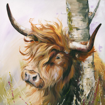 Highland Cow Artwork by Kay Johns