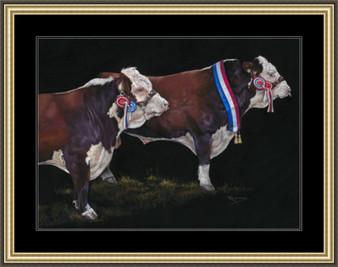 Extra large paper framed image