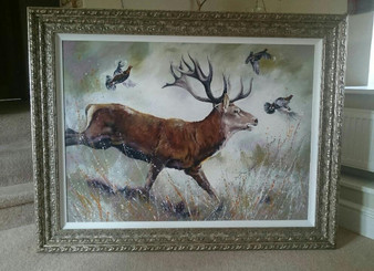 Stag and red grouse original 'Call of the Wild'