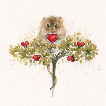 'Heartfelt' limited edition hand-embellished mouse painting by Kay Johns