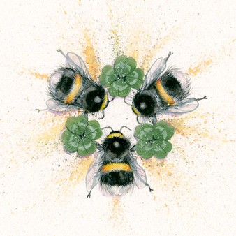 Original Bumble bee artwork by Kay Johns