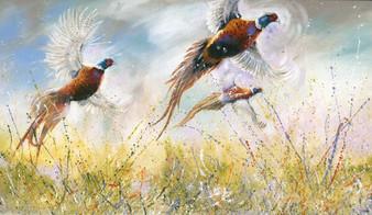 Flushing pheasants by Kay Johns
