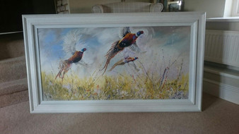Original pheasant artwork by Kay Johns