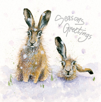 'In Too Deep' Christmas Greeting Card by Kay Johns
