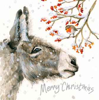 'Very Merry Berries' Christmas Greeting Card by Kay Johns