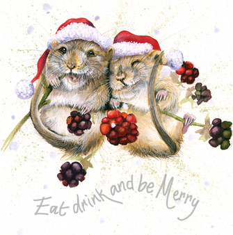 'Chuckle Berries' Christmas Greeting Card by Kay Johns