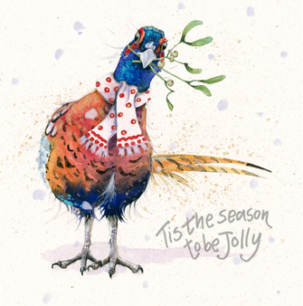 'Only Me' Christmas Greeting Card by Kay Johns
