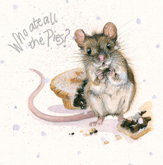 'Who Ate All The Pies' Christmas Greeting Card by Kay Johns