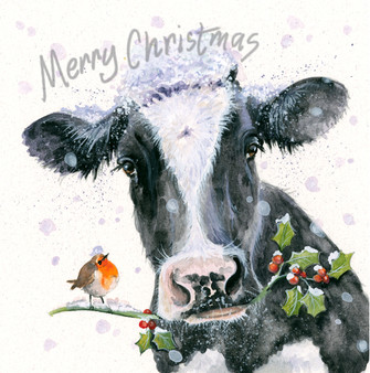 'Jolly Holly Days' Christmas Greeting Card by Kay Johns