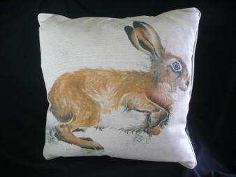 The Dashing Mr Hare cushion