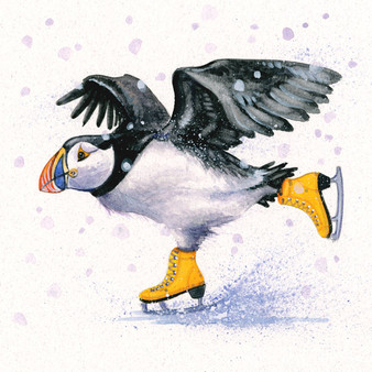 Puffin original artwork by Kay Johns