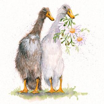 Running Duck original artwork by Kay Johns