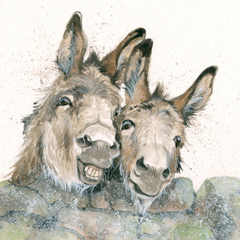 Original donkey artwork by Kay Johns