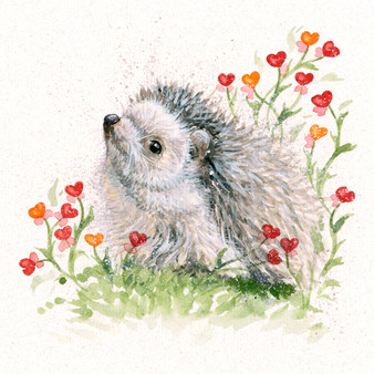 Hedgehog original artwork by Kay Johns
