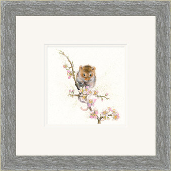 Mouse artwork by Kay Johns in grey frame