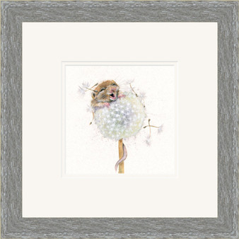 Mouse artwork by Kay Johns in a grey frame