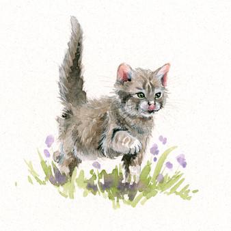 Original kitten artwork by Kay Johns