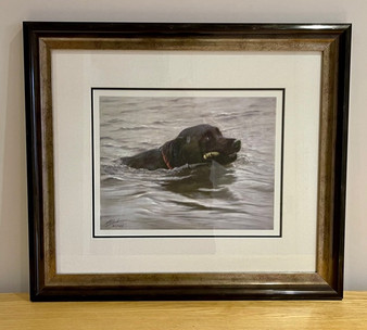 Framed Dog artwork by John Silvers