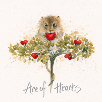 Heartfelt - Mouse card by Kay Johns - front view
