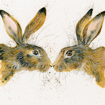 Hare art by Kay Johns