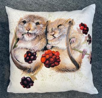 Chuckle Berries- Dormice Cushion