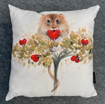 Heartfelt harvest mouse cushion by Kay Johns