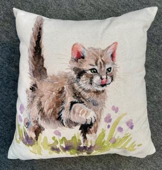Kitten Kisses - kitten cushion by Kay Johns
